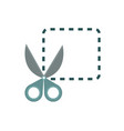 scissors cut coupon business commerce shopping vector image