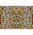 seamless mosaic circle pattern background vector image vector image