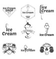 set ice cream logo for company or shop vector image vector image