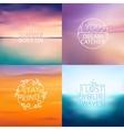 Set of 6 different landscape blurred backgrounds vector image
