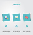 set of finance icons flat style symbols with piggy vector image