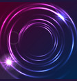shiny glowing neon colorful circles abstract vector image