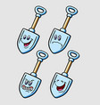 Shovel cartoon character expression vector image