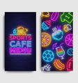 sport cafe menu vertical banners design template vector image