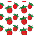 Strawberry pattern on transparent background vector image vector image