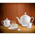 Tea Set Composition vector image vector image