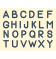the alphabet vector image
