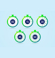 timer icons with color gradation and numbers in vector image vector image