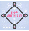 Valentine in marine style vector image vector image