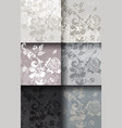vintage damask pattern set luxury ornament vector image