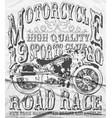 vintage motorcycle tee graphic design vector image