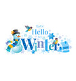 winter logo snowman winrty vector image vector image