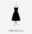 Woman black dress vector image vector image
