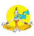 yoga girl vector image vector image