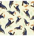 seamless texture tropical toucan vector image