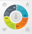 Cycle business infographics vector image