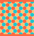 seamless honeycomb pattern hexagon texture vector image