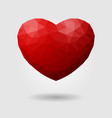 polygonal heart geometric sign of vector image