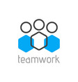 teamwork logo concept team person symbol vector image