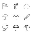 9 meteorology icons vector image vector image
