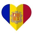 Andorra flat heart flag vector image vector image