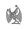 bat cartoon character vector image