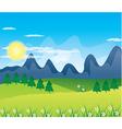 Beautiful landscape background vector image