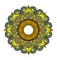 beautiful mandala design vector image vector image