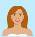 beautiful woman avatar vector image vector image