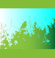 bird in the bush vector image vector image