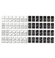 black and white domino full set in flat design vector image
