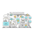 blockchain technology process concept vector image vector image
