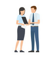 business person and discussion vector image vector image