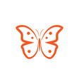 butterfly logo and icon design template vector image vector image