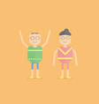 character design of senior people that are vector image