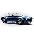 classic sport car cobra roadster blue vector image vector image
