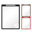 clipboard and sheet vector image vector image