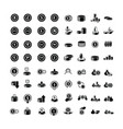coins icons set 64 item vector image vector image