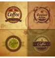 Collection of vintage Coffee Design labels vector image vector image