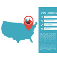 columbus map infographic vector image