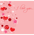 Cute Valentine love congratulation card vector image vector image