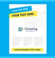 cv title page design for company profile annual vector image