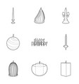 different candles icons set outline style vector image vector image