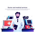 doctor medical service poster vector image vector image