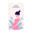 dreaming pregnant woman vector image vector image