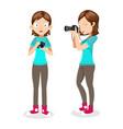 female photographer vector image