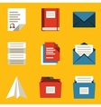 Flat icon set Paper 2 vector image