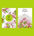 floral template with apple blossoms vector image vector image