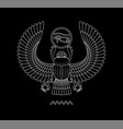 graphic print of egypt scarab pattern on black vector image