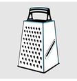 Grater with handle vector image vector image